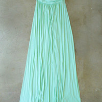Great Distance Maxi Dress in Mint [4147] - $23.00 : Vintage Inspired Clothing & Affordable Summer Frocks, deloom | Modern. Vintage. Crafted.
