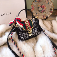 GUCCI Sylvie tweed mini bag