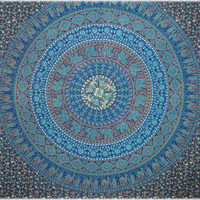 Indian Circle - Blue - Tapestry