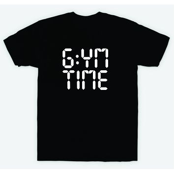 Gym Time T-Shirt Tee Shirt Vinyl Heat Press Custom Inspirational Quote Girls Motivational Sports Gym Fitness