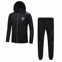 Philipp Plein Women or Men Fashion Casual Zip Cardigan Jacket Coat Pants Trousers Set Two-Piece