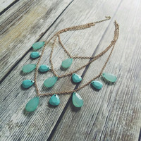 Tear Drop Necklace and Earring Set (More Colors)