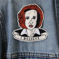 Dana Scully Embroidered Patch/Brooch
