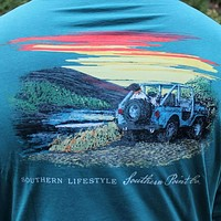 SPC Signature Long Sleeve Tee in Evergreen Green by Southern Point Co.