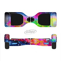 The Neon Splatter Universe Full-Body Skin Set for the Smart Drifting SuperCharged iiRov HoverBoard