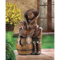 Wild West Garden Water Fountain Western Decor
