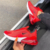 Red Nike Air Max 270 Running Sports Shoes Sneakers