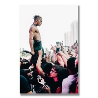 Xxxtentacion Hiphop Rapper Silk Poster Music Star Wall Art Huge Print 12x18 13x20 inch Decoration Pictures Bedroom Decor 005