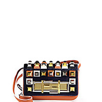 Fendi - Multicolor Studded Leather & Calf Hair 3Baguette - Saks Fifth Avenue Mobile