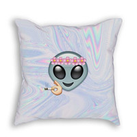 Smoking Alien Pillow