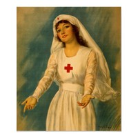 Vintage Red Cross Nurse Poster from Zazzle.com