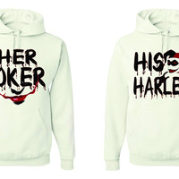 Her Joker & His Marley Unisex Matching Couples Hoodies