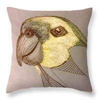 Unfinished Parrot Throw Pillow
