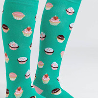 Let Them Eat Cupcakes Knee High Socks
