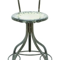 Distressede Metal Bar Chair - 3 Colors Available