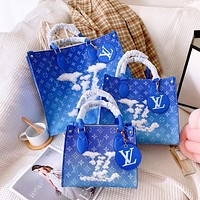 Free shipping: LV Simple Cloud Letter Print Tote Bag Shoulder Bag Crossbody Bag