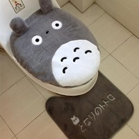 Totoro Super Soft Bathroom Toilet Lid / Seat / Floor Mat - 3 piece/set
