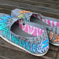 Pastel colored Vegan Moccasin TOMS by BStreetShoes on Etsy