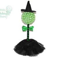 Witch Lollipop Topiary, Halloween, Candy Buffet, Centerpiece, Witch, Edible, Lollipops, Candy, Wizard of Oz, Wicked Witch
