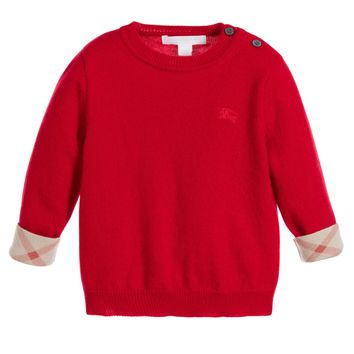 Baby Boys Red Cashmere Sweater