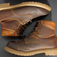 RED WING 1421 Brown Leather Work Boots Men's Size 9.5