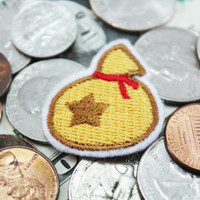 """Animal Crossing   """"Bell Bag"""" - Iron-on Patch"""
