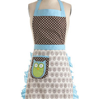 ModCloth Vintage Inspired Cooking Owl Day Apron