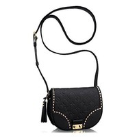 LV Louis Vuitton Monogram Empreinte Junot Shoulder Cross Body Handbag Noir Article:M43143 Made in France