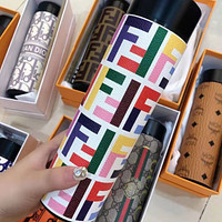 FENDI new smart digital display water cup temperature measurement letter all printed food grade 304 stainless steel vacuum flask