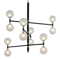 Chandelier in Black Polished Nickel