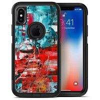 Red and Blue Abstract Oil Painting - iPhone X OtterBox Case & Skin Kits