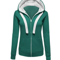 Plain Drawstring Hoodie Sweater  With Pocket B0014046