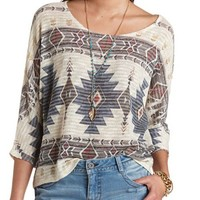 OVERSIZED AZTEC TOP