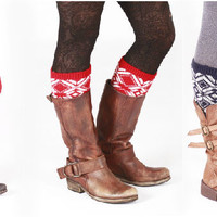 Geometric Boot Cuffs ~ 7 Color Options