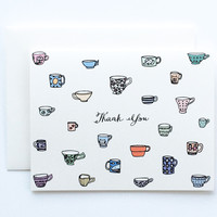 Teacups Thank You Card