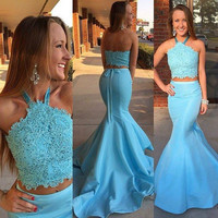 Sexy Long Mermaid Prom Dresses 2016 Plus Size Princess Vestido De Festa Evening Party Dress For Graduation Sweet 16 Years