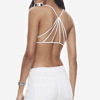 White One Eleven Strappy Back Bralette from EXPRESS