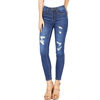Restless Distress Ankle Jeans