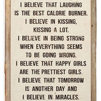 Poncho & Goldstein 'I Believe In Pink' Sign