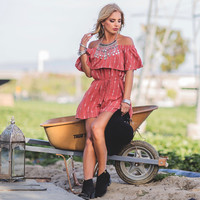 Shake It Up Embroider Romper