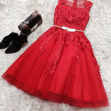 My fairy tale begins dress - Red version