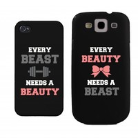 Beauty and Beast Need Each Other Couples Matching Cases - iphone 4, iphone 5, iphone 5C, iphone 6, iphone 6 plus, Galaxy S3, Galaxy S4, Galaxy S5, HTC M8, LG G3