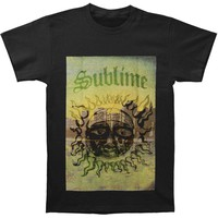 Sublime Men's  Cityscape Sun Slim Fit T-shirt Black