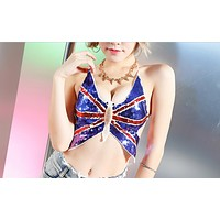 Butterfly belly pocket new bar sexy ds lead dancer costume woman
