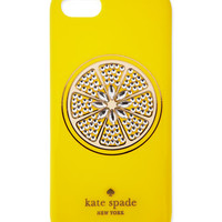 resin sparkle lemon iphone 5 case, yellow