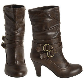 Two Buckle Heel Boot - Teen Clothing by Wet Seal