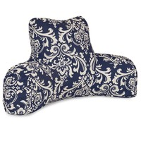 Navy Blue French Quarter Reading Pillow