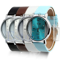 Hot New Style Watches Stainless Steel Womens/Mens Leather Quartz Wrist Watch = 1956514372