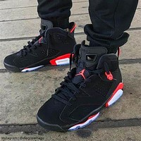 Nike AIR Jordan aj6 basketball shoes black red soot sneakers AJ6 Bugs Bunny high top sneakers shoes