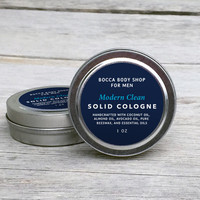 Mens Solid Cologne MODERN CLEAN Fragrance Valentines Day Gift for Him Gift for Boyfriend Mens Fragrance Gift